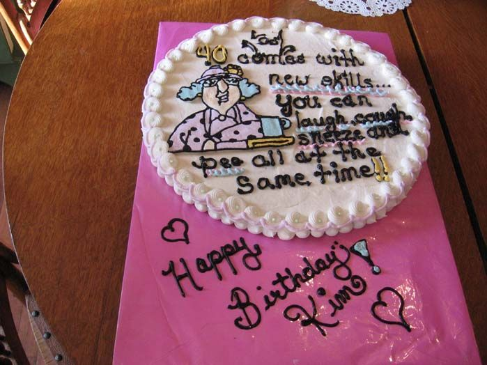 Funny 40th Birthday Cakes For Women