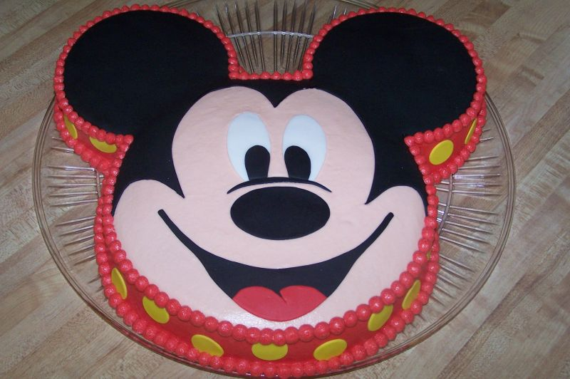 "mickey mouse. Uploaded By: CareyI. This was done with a 10"" round for the"