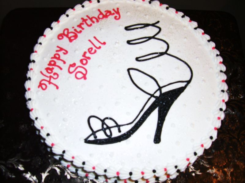 This cake was made for a friend's 20 year old daughter. She loves fashion.