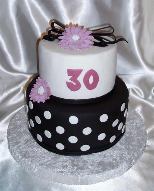 30th birthday cake designs