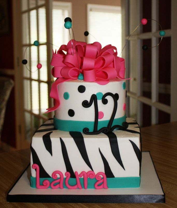 Birthday and Party Cakes: Birthday Cake with Zebra and Hot ...