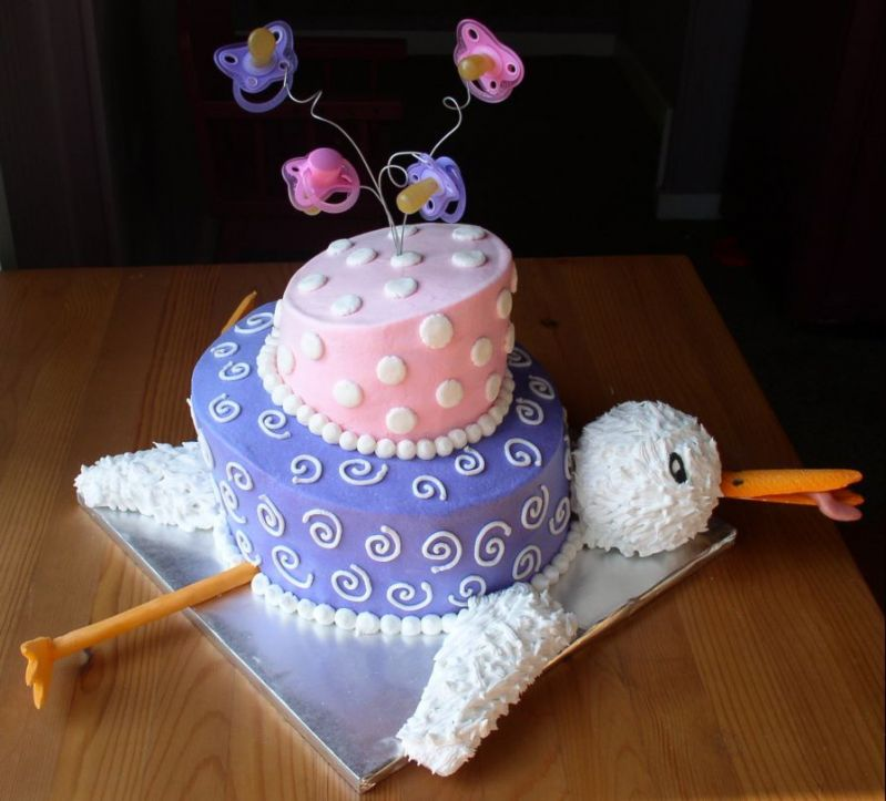 baby shower cakes for twins twin girl stork squish cake