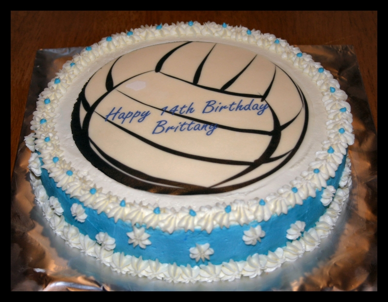 Pictures Of Volleyball Cakes RONIERONGGO