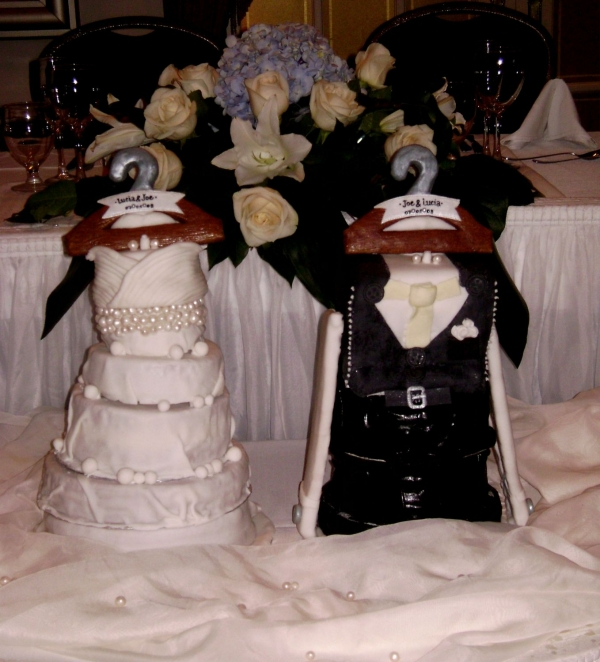 Everything is edible and this wedding cake was NOT a fruitcake
