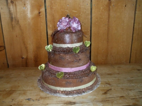 Chocolate Rustic Wedding Cake By Furlik The bride wanted chocolate