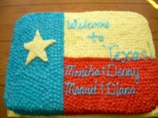 texas flag star. Texas Flag Cake