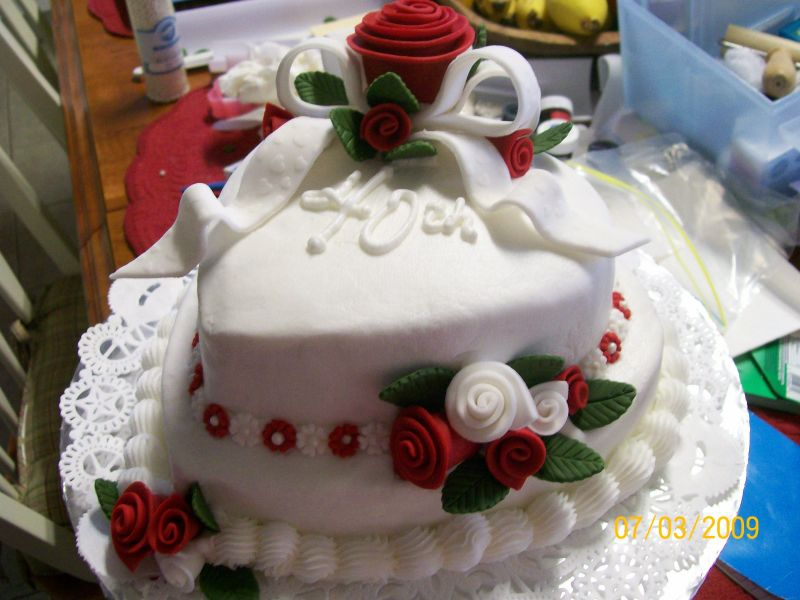 pictures of 40th anniversary cakes. 40th Wedding Anniversary Uploaded By: KountryAngel1960