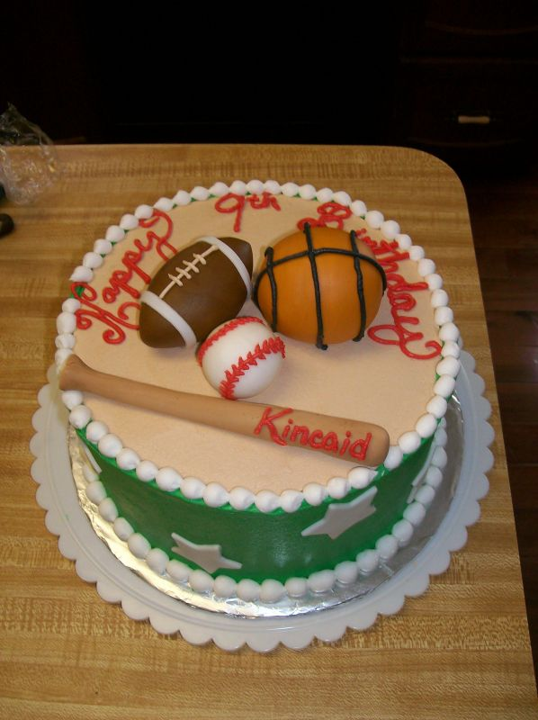 birthday cake for boys. Sports Birthday Cakes