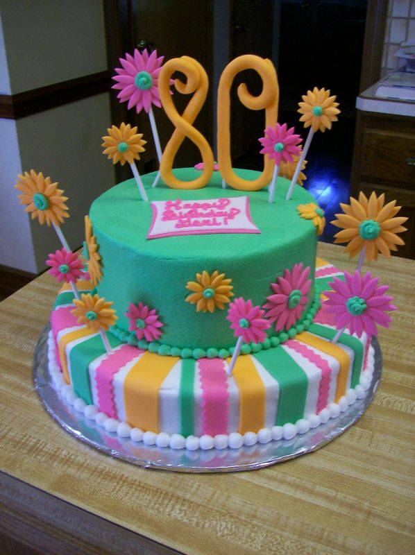 80th birthday cake. Uploaded By: JNettecakes