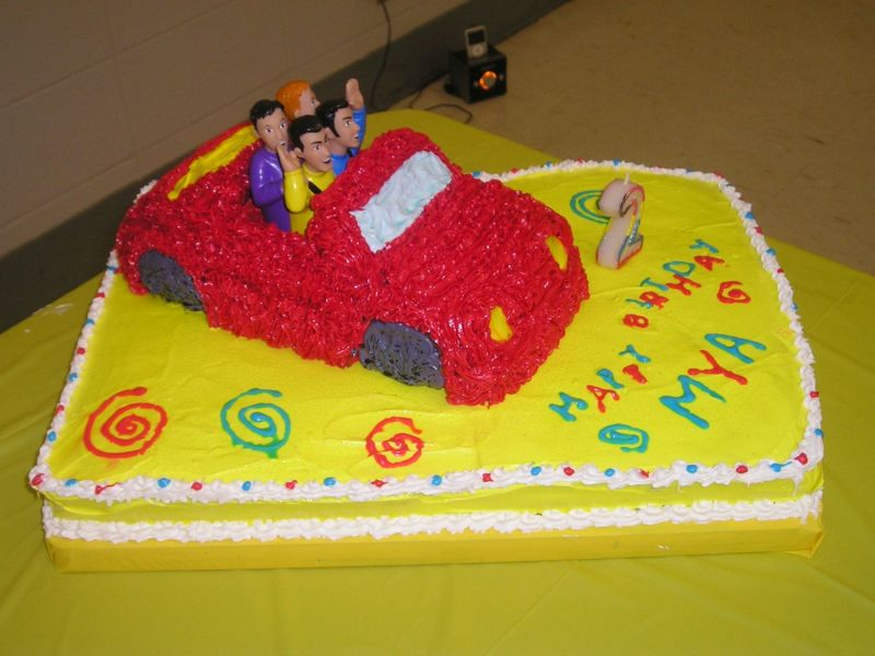 Wiggles Big Red Car Cake Uploaded By: schellybean