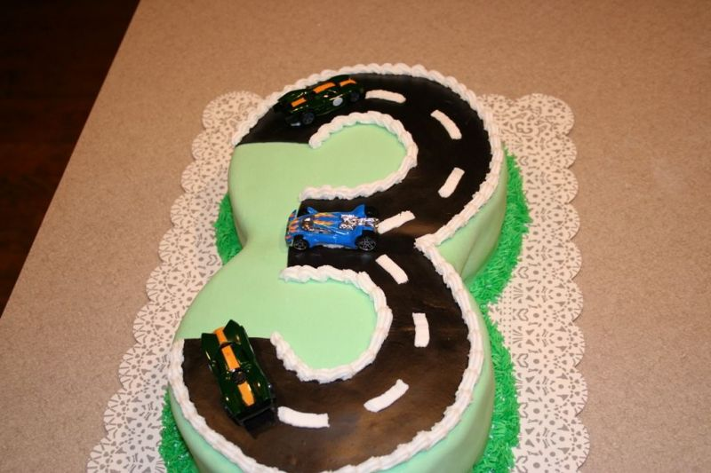 Race Track Birthday Cake Wallpapers