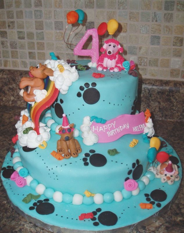 Puppy Cake Uploaded By: willj7r0. For my friend's 4 year old's birthday.