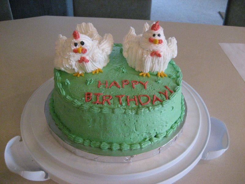 Chicken Birthday Cake Clip Art