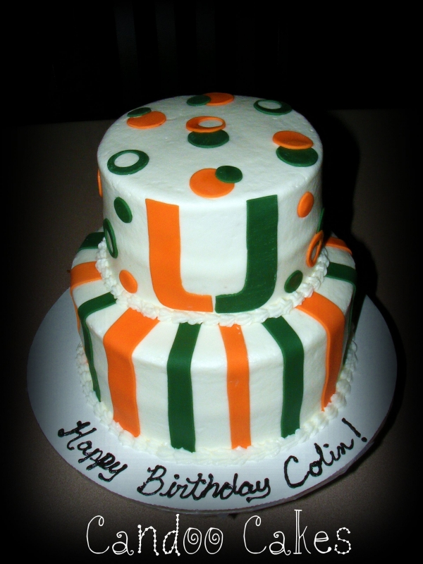 University Of Miami Cakes On Pinterest 24 Pins