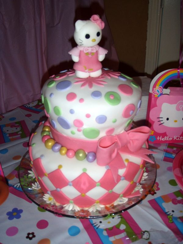 This was a fondant Hello kitty cake for a childs party