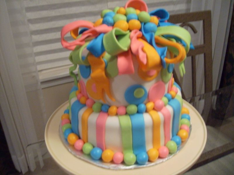 Colorful Birthday Cake Photos