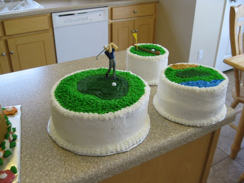 Cake Decorating Ideas Golf Theme