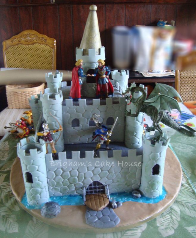 homemade castle cakes