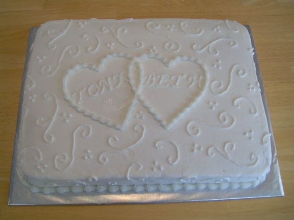 Wedding Half Sheet Cake Ideas